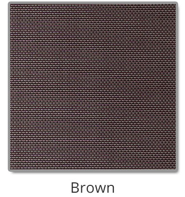 TEXTILENE® 80 solar screen in Brown color blocks up to 80% of the sun rays, reducing heat transfer through windows.
