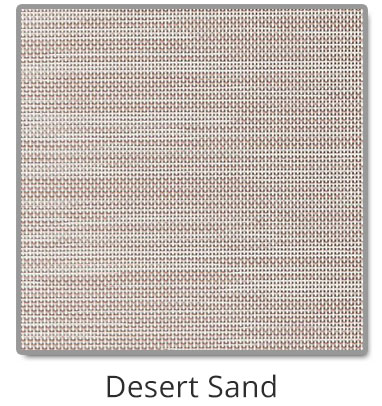 TEXTILENE® 80 solar screen in Desert Sand color blocks up to 80% of the sun rays, reducing heat transfer through windows.