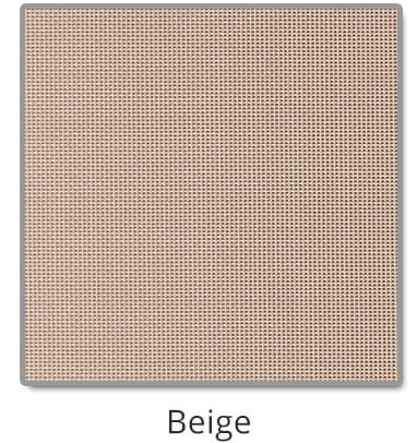 TEXTILENE® 90 solar screen in Beige color blocks up to 90% of the sun rays, reducing heat transfer through windows.