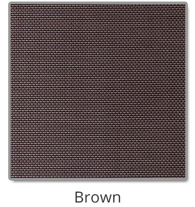 TEXTILENE® 90 solar screen in Brown color blocks up to 90% of the sun rays, reducing heat transfer through windows.