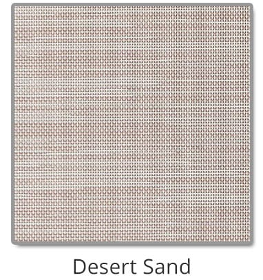 TEXTILENE® 90 solar screen in Desert Sand color blocks up to 90% of the sun rays, reducing heat transfer through windows.